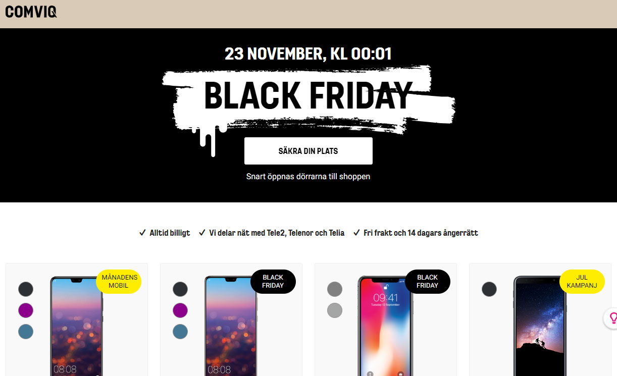 comviq black friday
